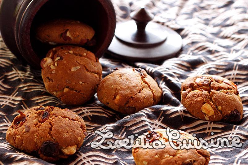 Cookies aux fruits secs et sirop d'érable