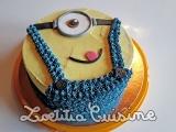 Le gâteau d'anniversaire végane minion de Marji'ssweetys