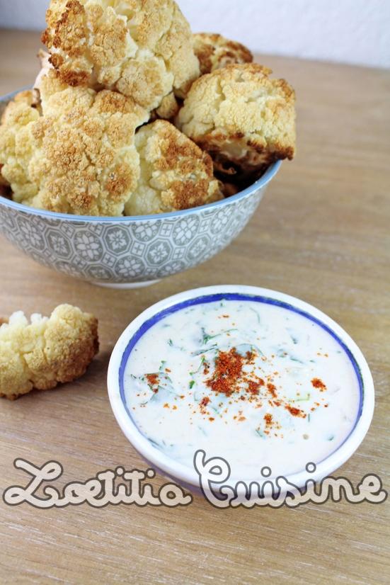 Chou-fleur rôti sauce Tarator